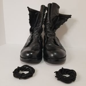 Military Boots Leather Army Steel toe black combat